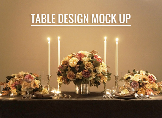 Wedding Reception Table Mock up